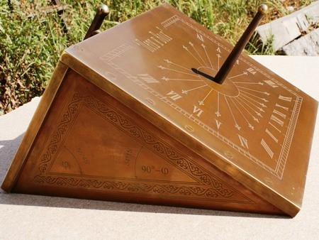 """The polar-equatorial sundials """"Peter and Wolf""""величина дуги."""
